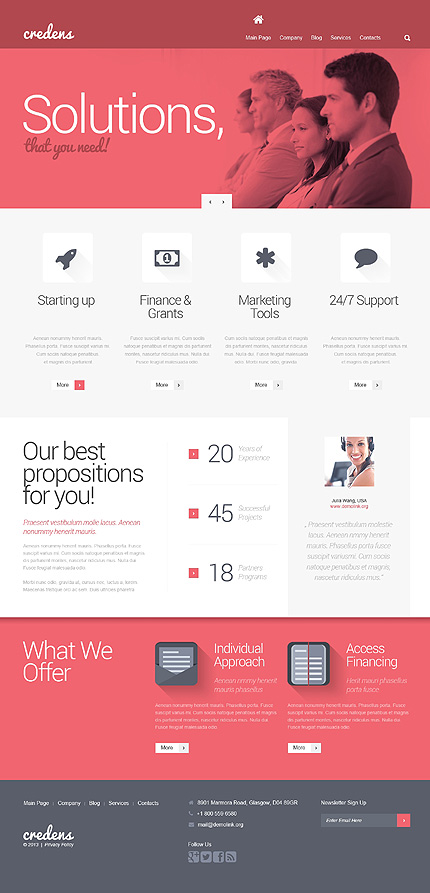 View live Demo for Credens Marketing Agency - Corporate Responsive WordPress Theme