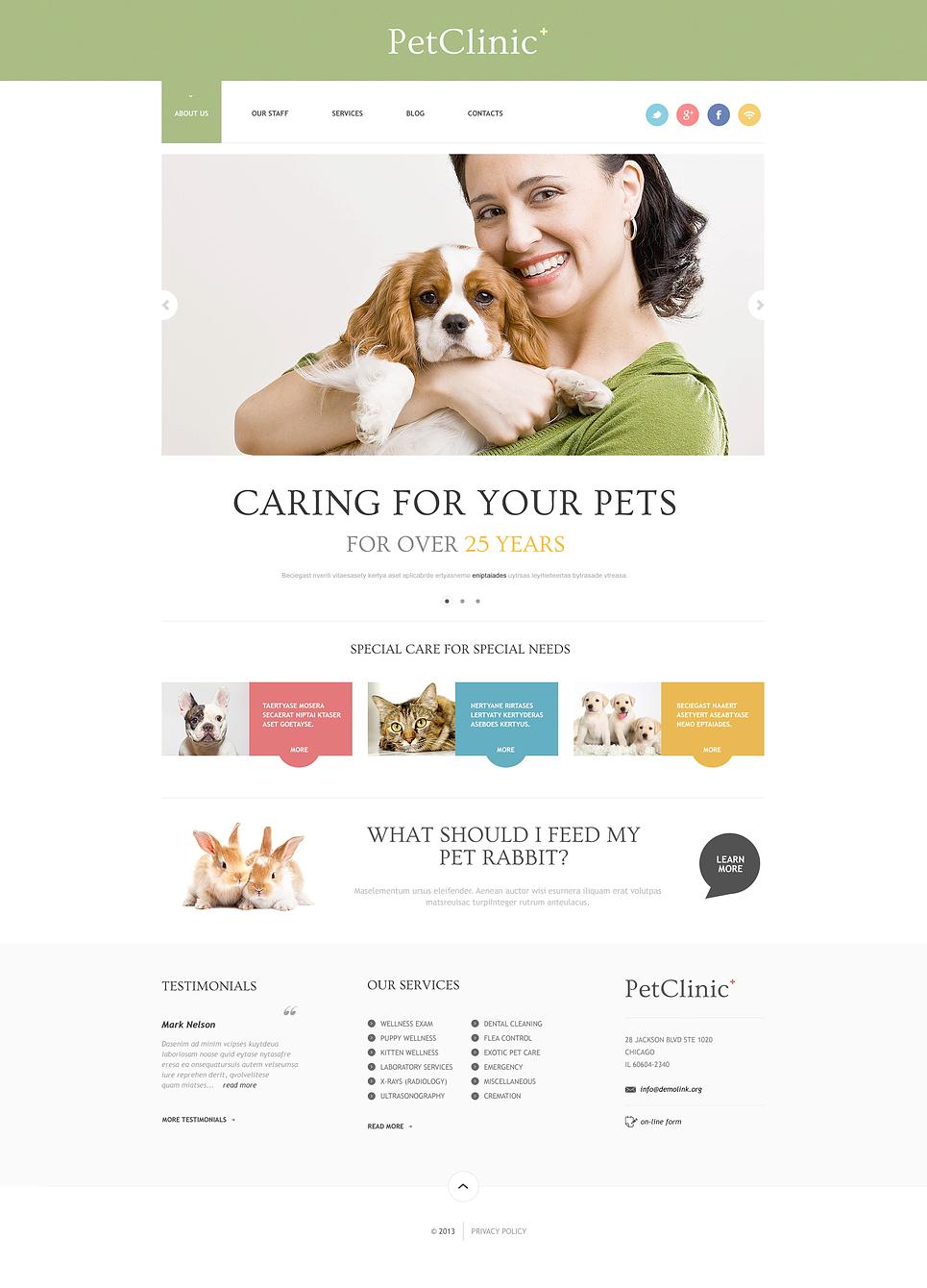 Pet Clinic - Successful Animals and Pet Clinic WordPress Theme