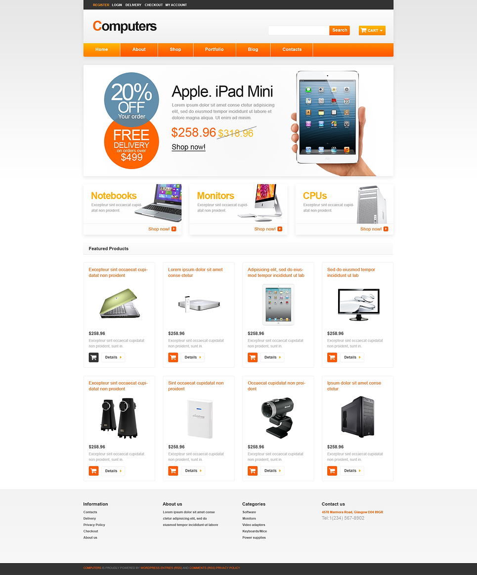 Ideal Computers Store Responsive JigoShop Theme