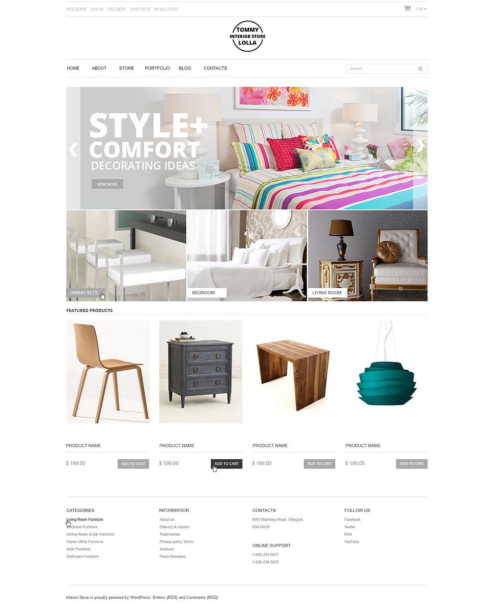 Elegant Furniture and Interior Shop JigoShop Theme
