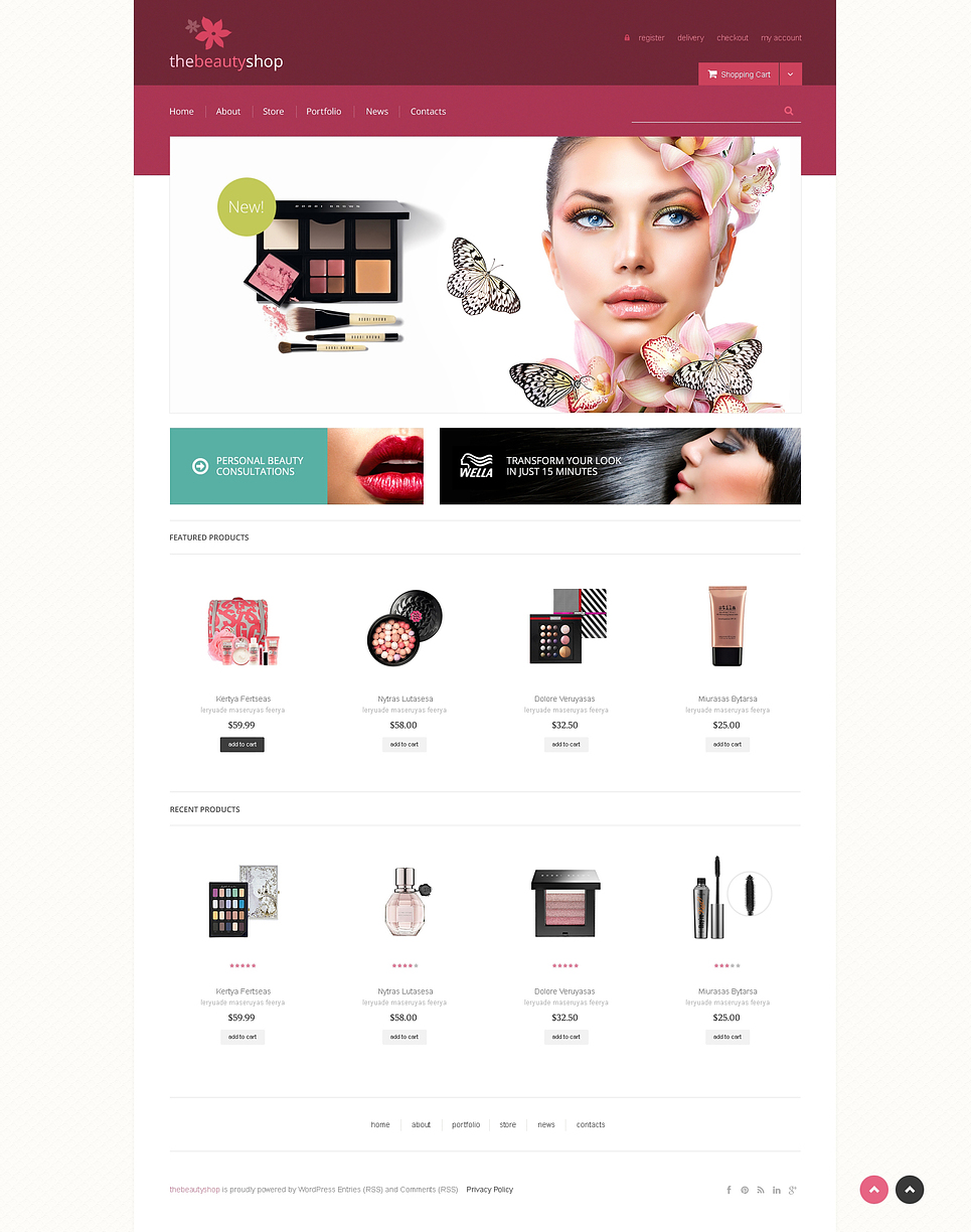 Lovely Jigoshop Beauty and Fashion Store Theme
