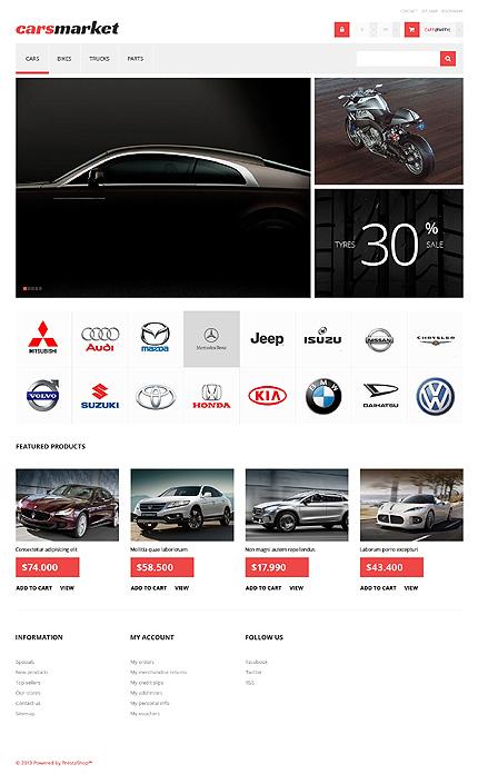 Car Dealer - Bootstrap Based Responsive Prestashop Cars Bike Store Theme