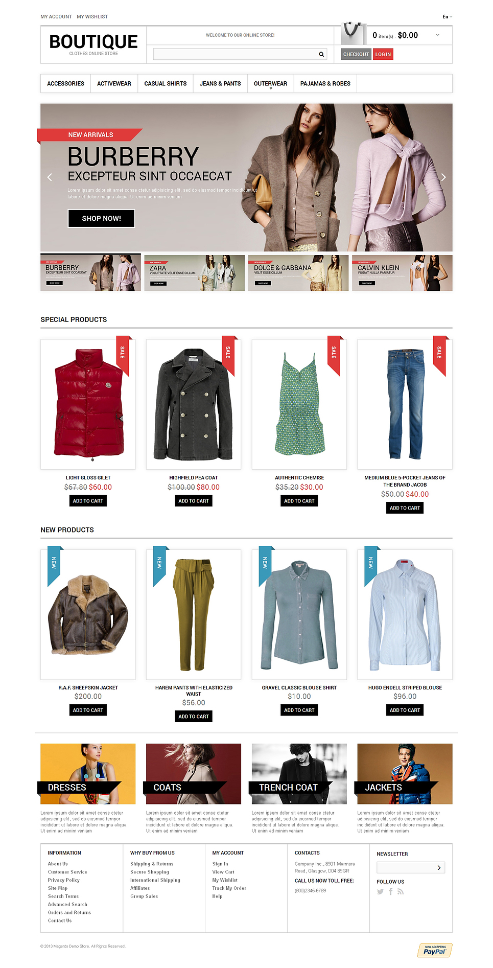 Clothes Boutique Magento Theme New Screenshots BIG