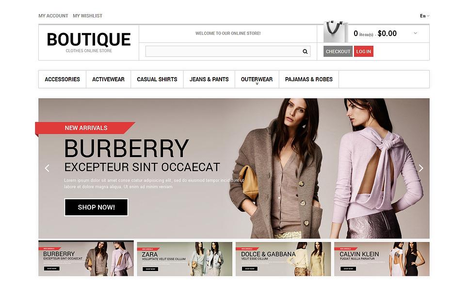 Clothes Boutique Magento Theme New Screenshots BIG