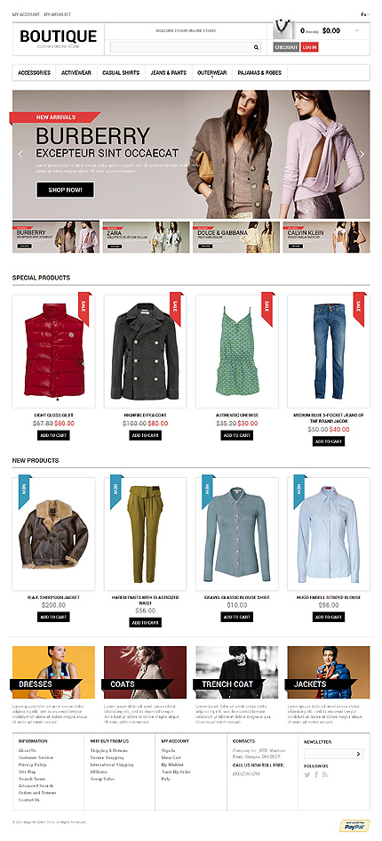 View live Demo for Fashion Store - Responsive Magento Fashion Theme