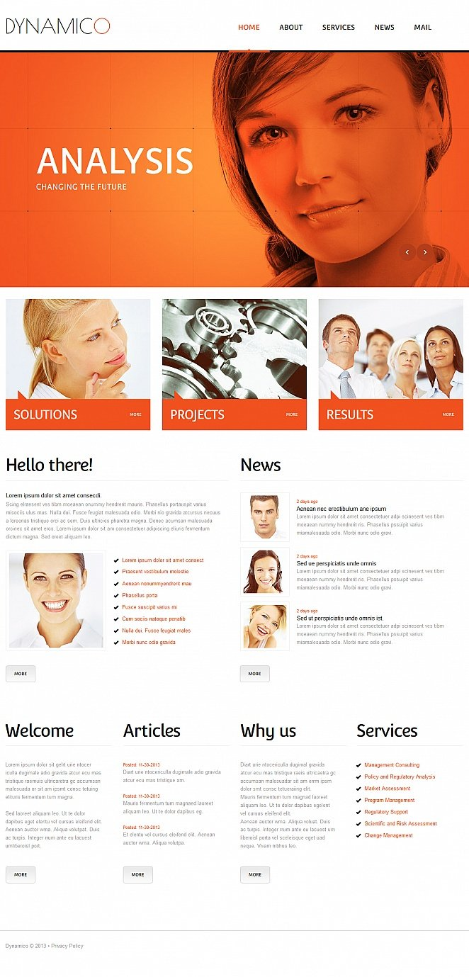 Marketing Agency Website Template Powered with CMS - image
