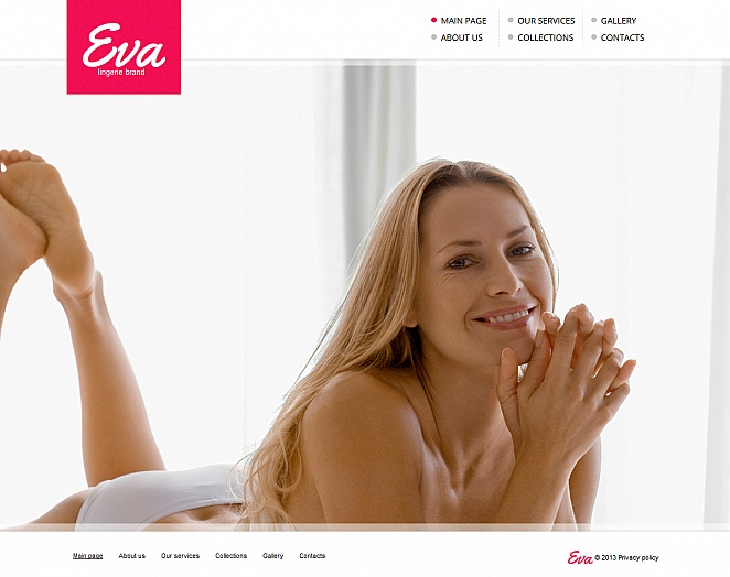 Lingerie Web Template with Background Photo Gallery - image