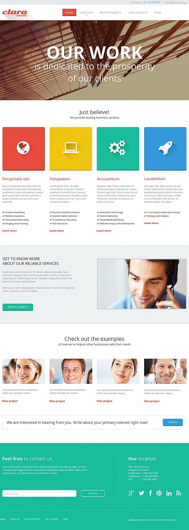 Business Website Template with a Wide Color Spectrum in Design - image