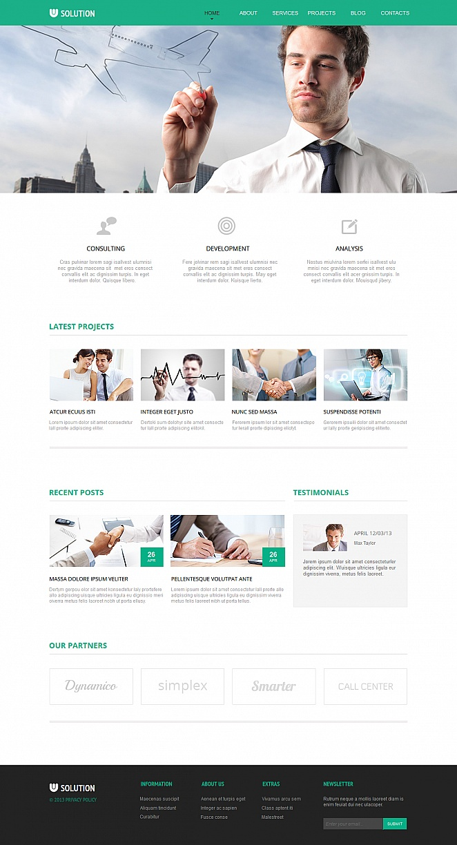 Merchant Services Template with jQuery Image Slider - image