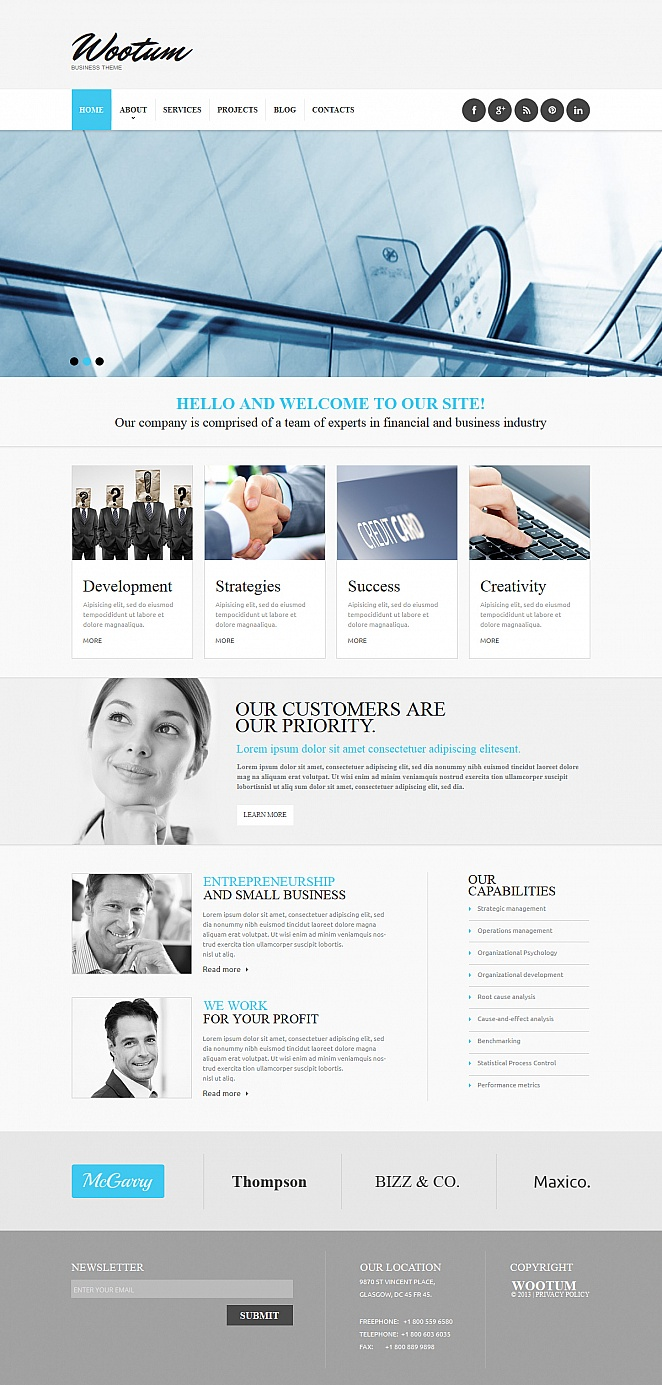 Business Web Template with Functional Footer - image