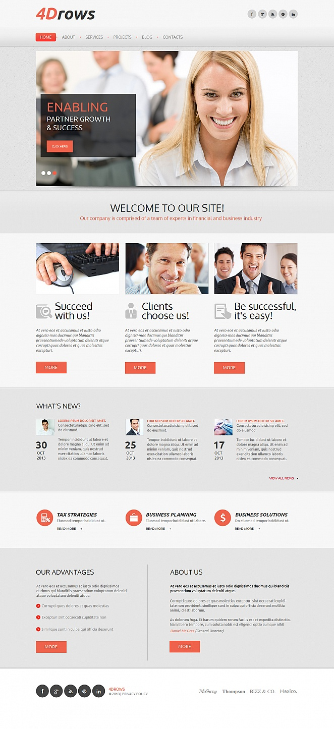 Business Company Web Template with Google Map - image