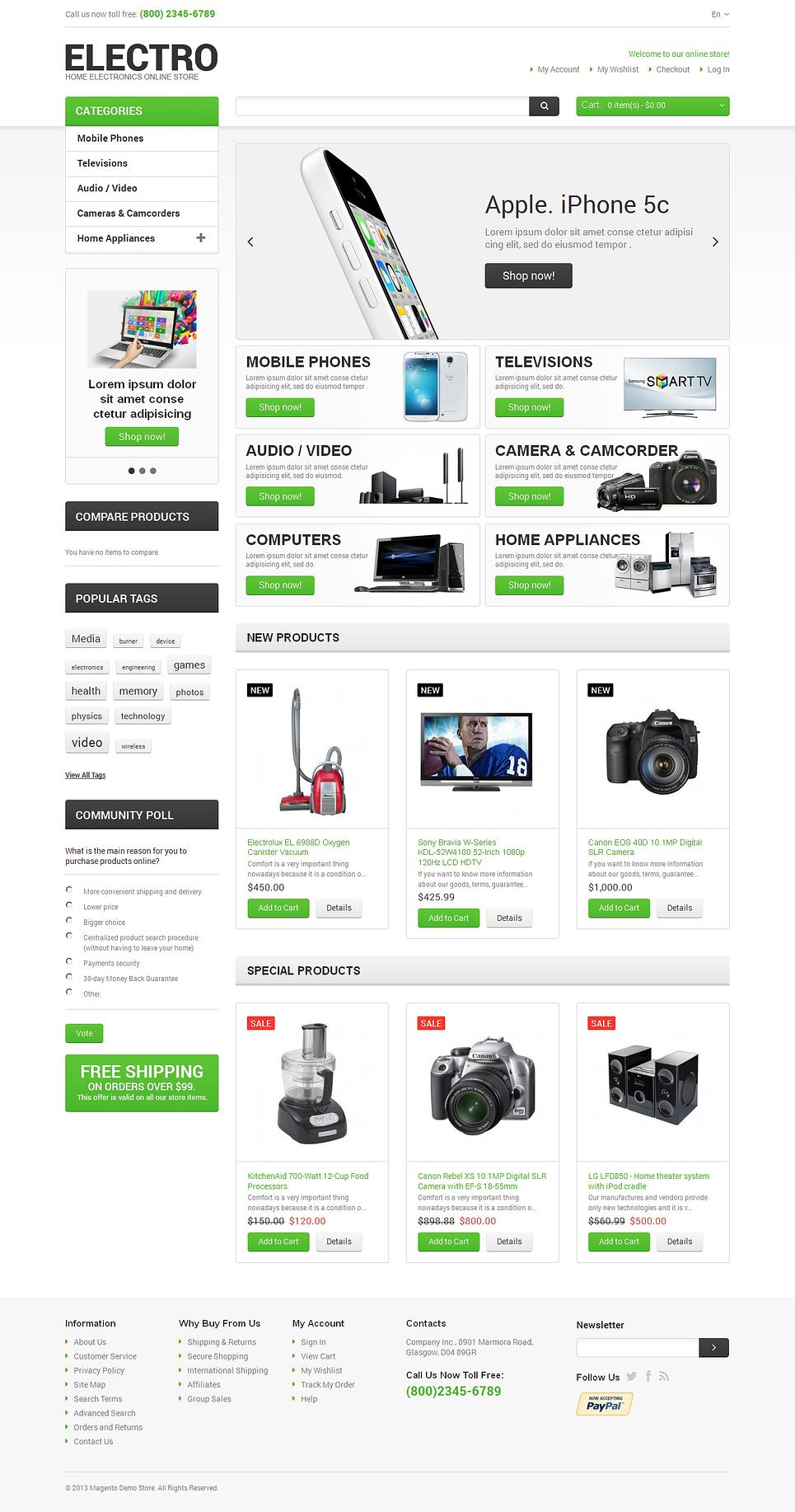 Electro Appliances Magento Theme New Screenshots BIG