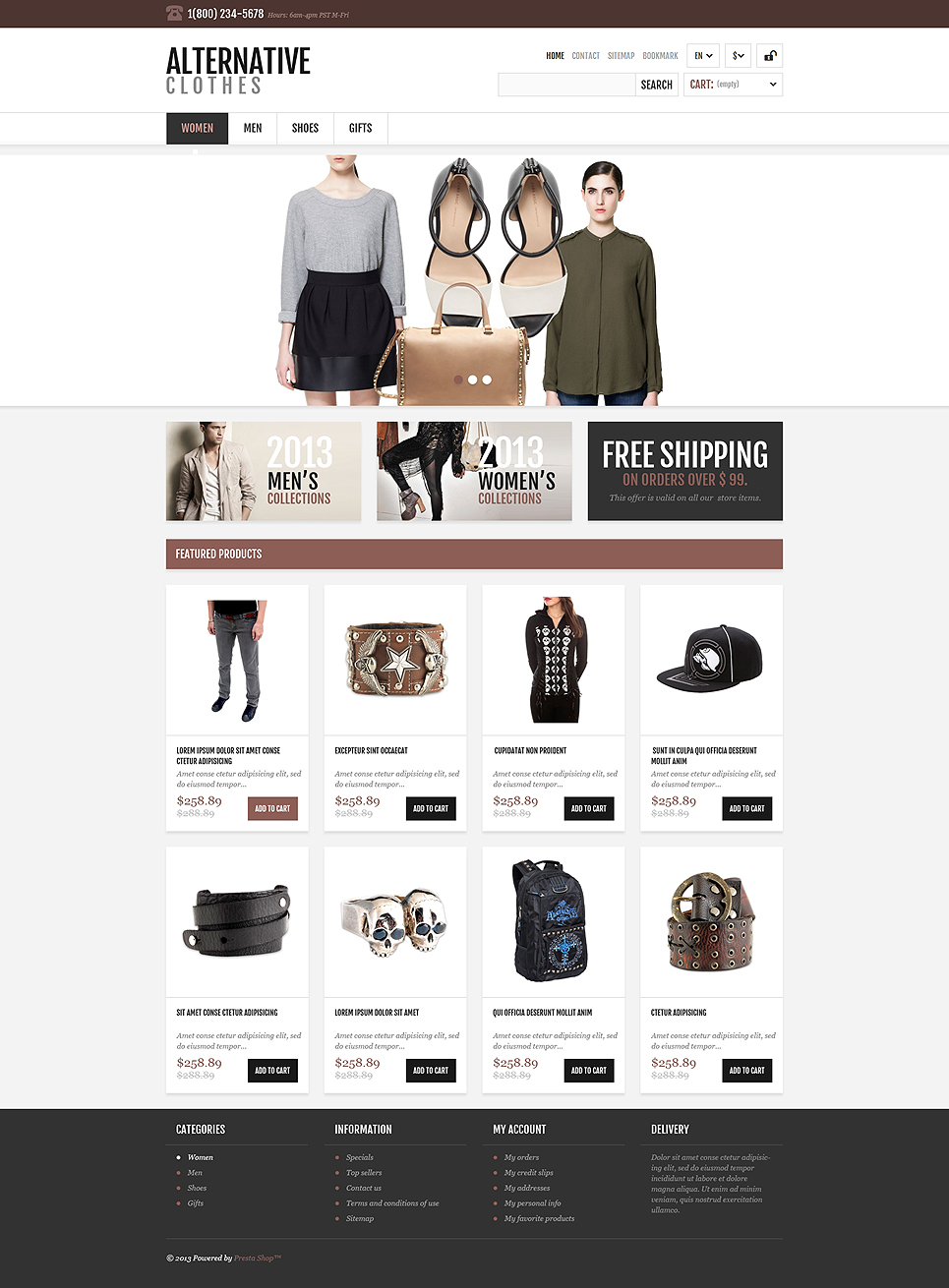 Gorgeous slides Fashion Store OsCommerce Window Template