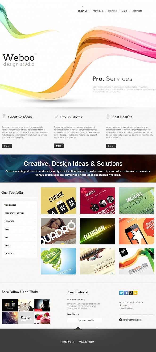 Czysty szablon strony portfolio web designera z galerią w trybie siatki - image