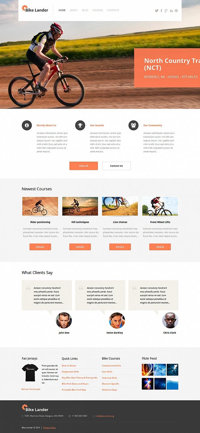 Lander Cycling Website Template - image