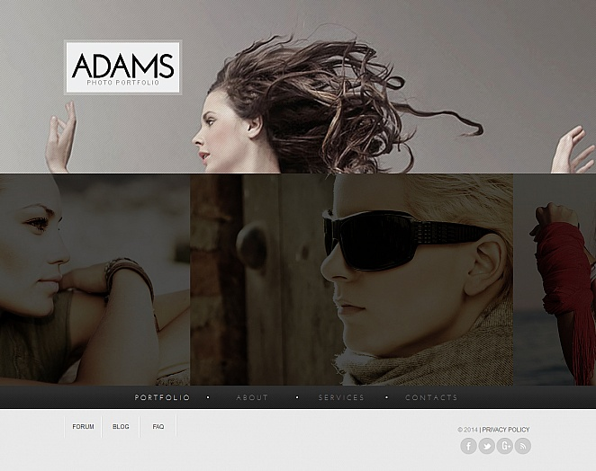 Photo Portfolio Template with Sliding Thumbnail Strip - image