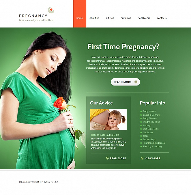 Pregnancy Template Designed in Calm Green Color - image