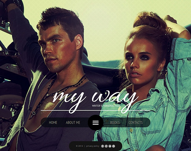 Personal Pages Web Template with Photo Background - image
