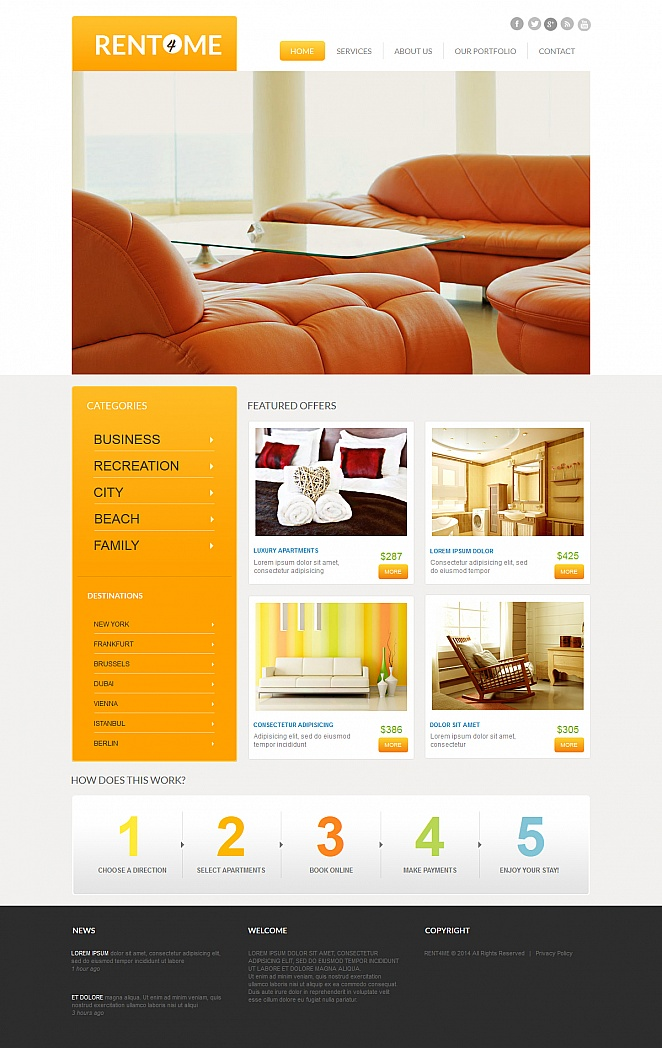 Real Estate Website Template with Catalog - image