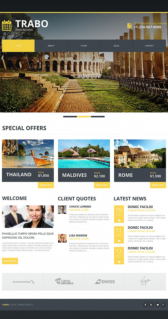 Website Template for Tourism Businesses - image