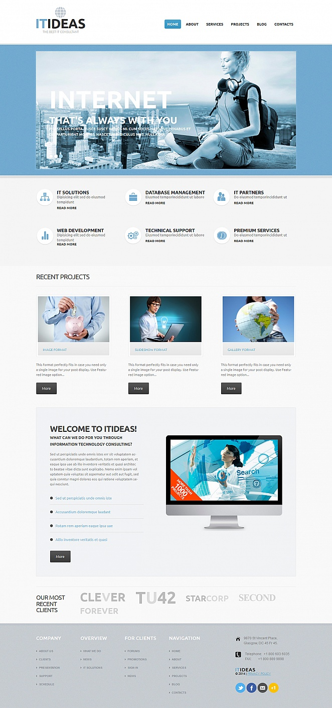 IT Consulting Services Website Template - image