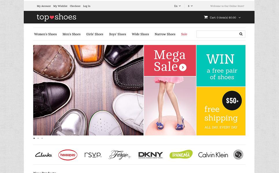 Top Shoes Shop Magento Theme New Screenshots BIG
