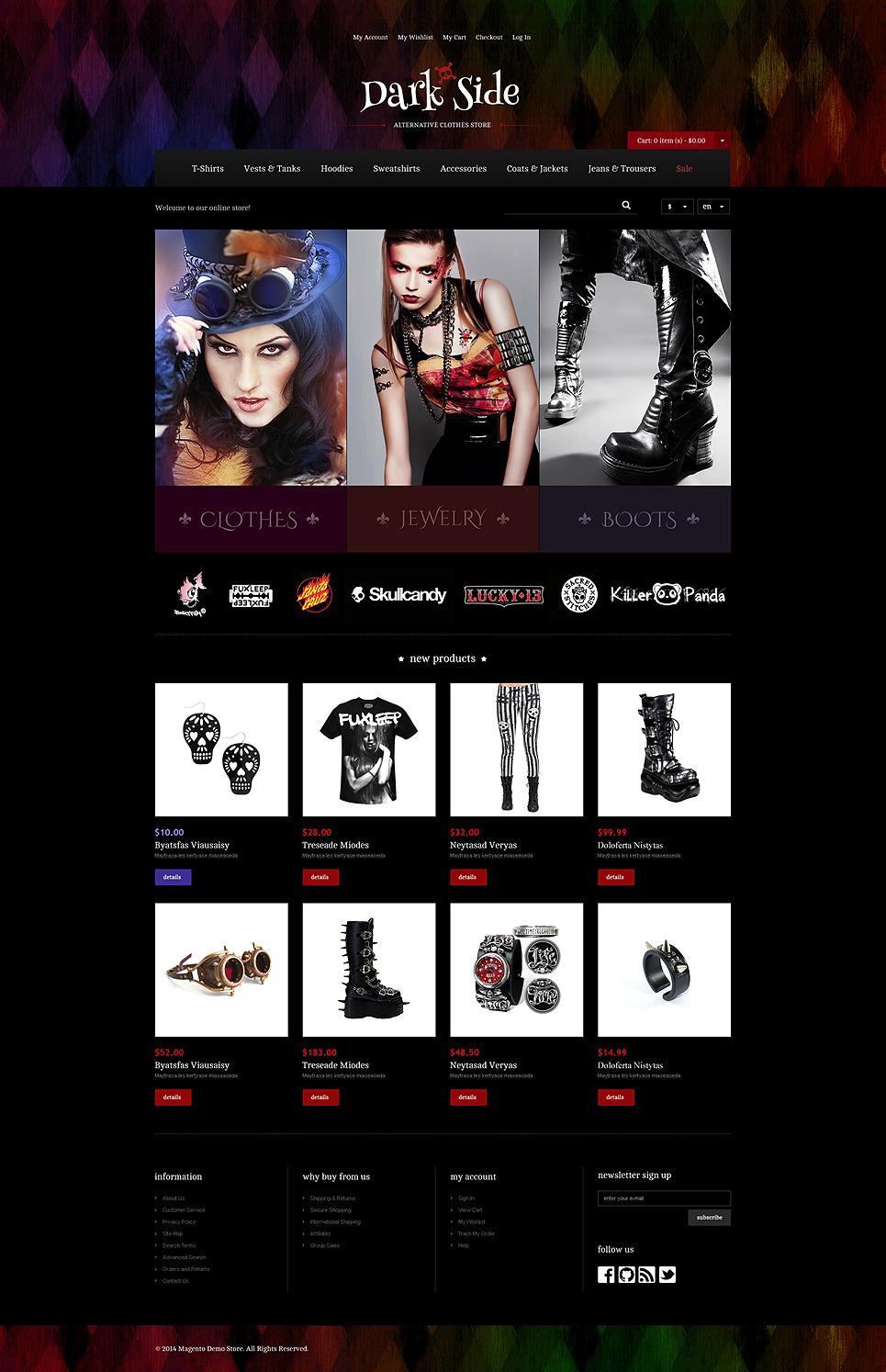Dark Side Magento Theme New Screenshots BIG