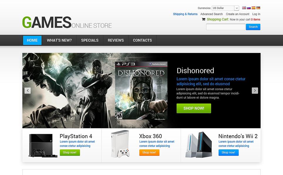 Gamer OsCommerce Template New Screenshots BIG
