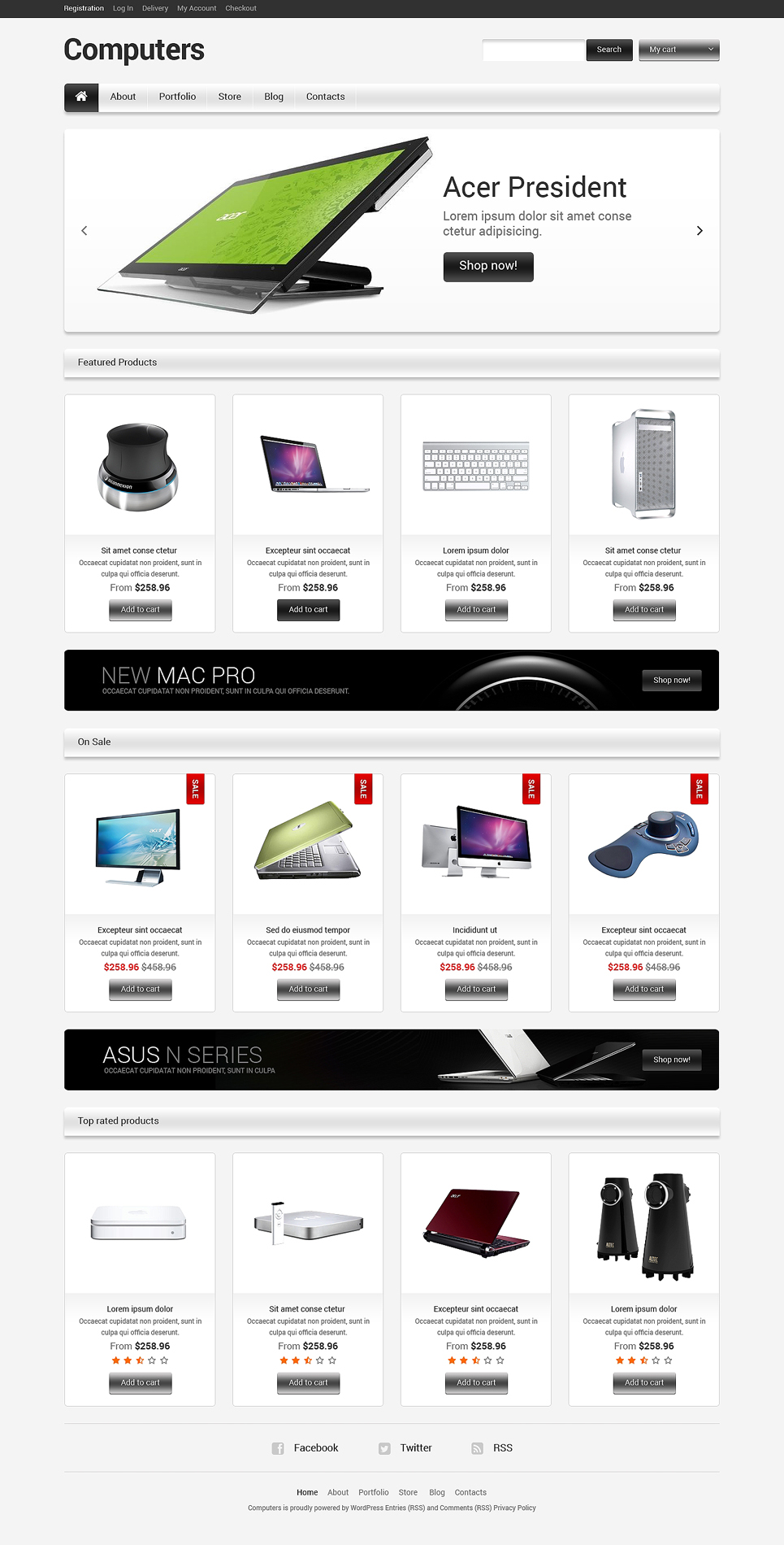ExtraOrdinary Responsive Computers Store JigoShop Theme