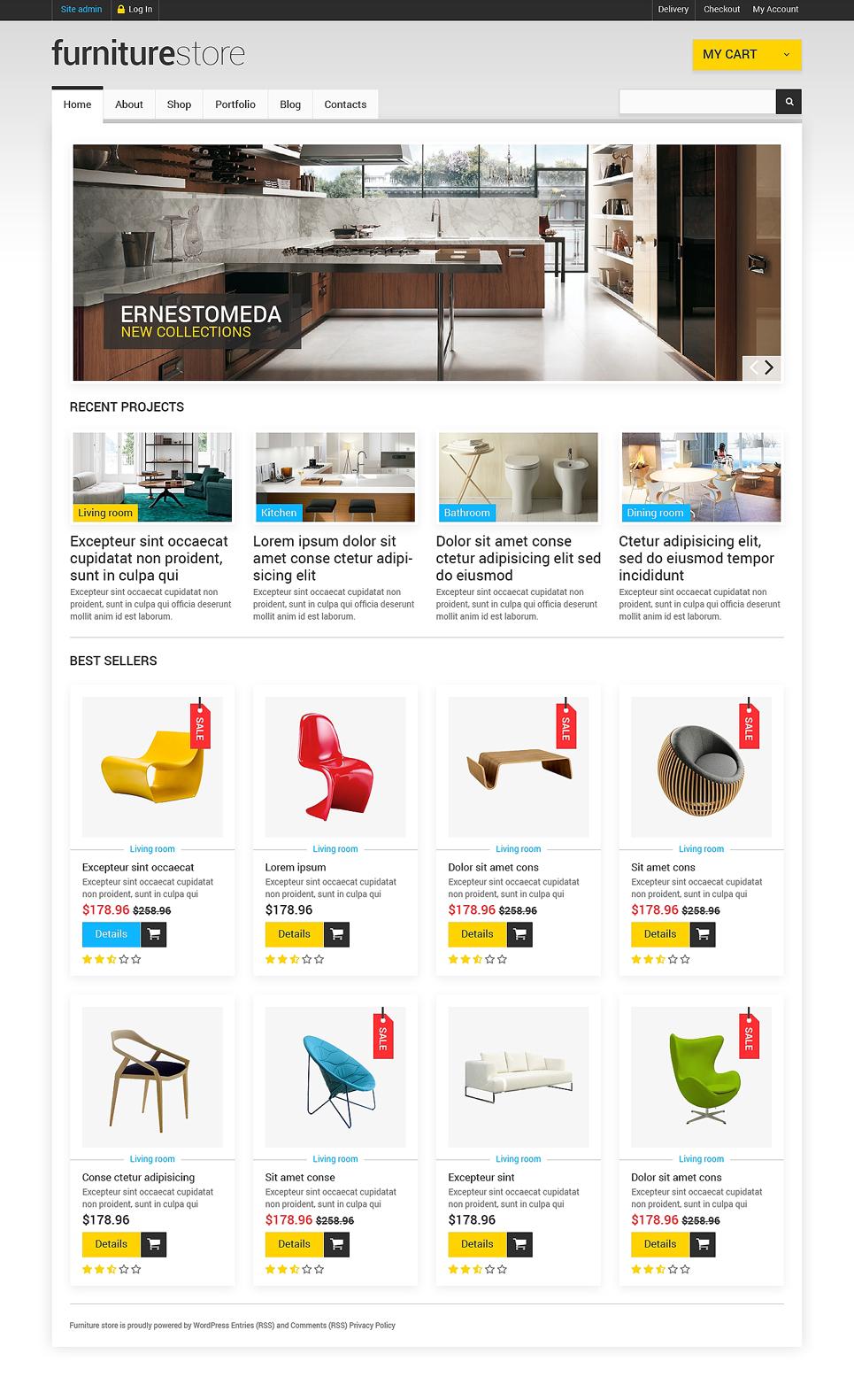 Pretty Furniture store JigoShop Theme