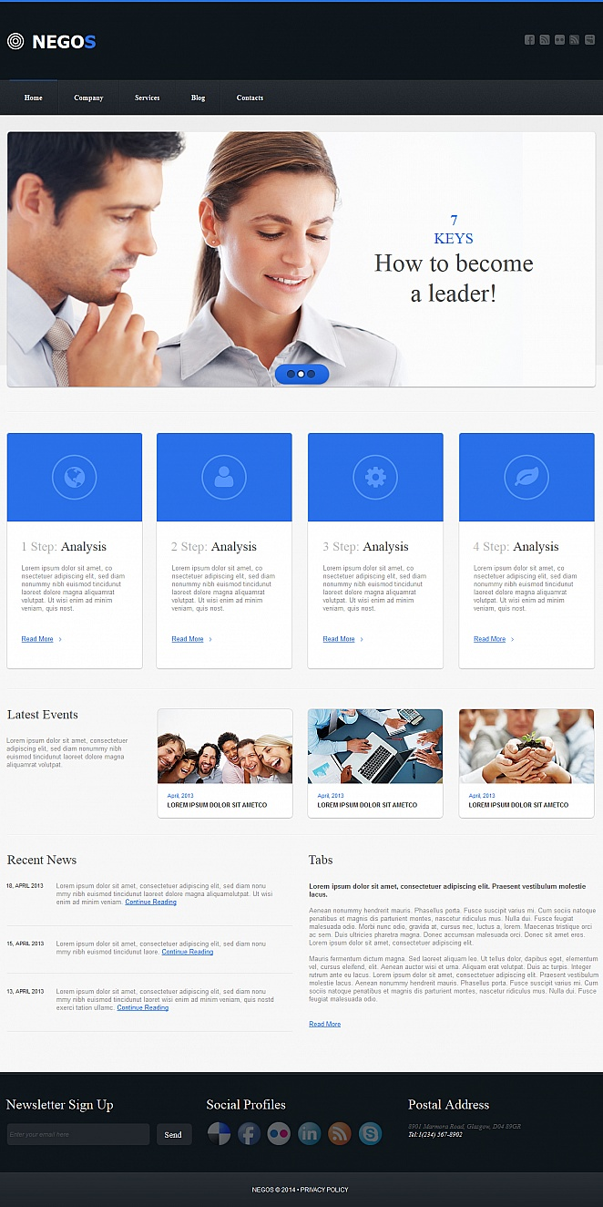 Business Website Template with Stylish Design - image