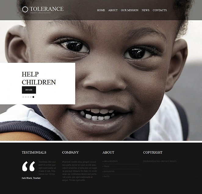 Child Charity Website Template with Background Photo Gallery - image