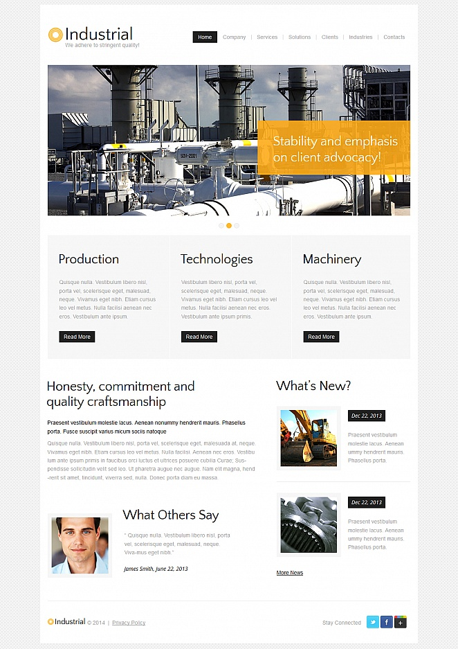 Industrial Website Template with Neutral and Minimal Design - image