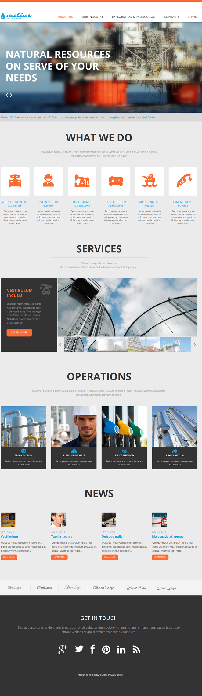 Oil Company Website Template with jQuery Slideshow - image