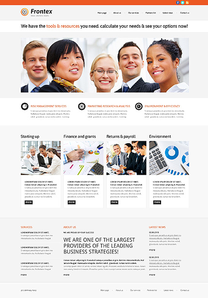 Business Responsive WordPress Theme #47783