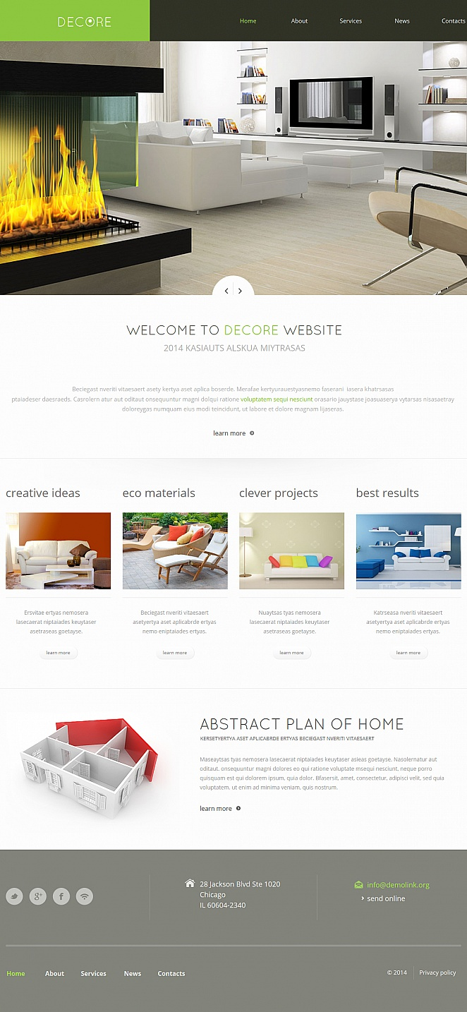 Home Decor Website Template in Minimalist Style - image