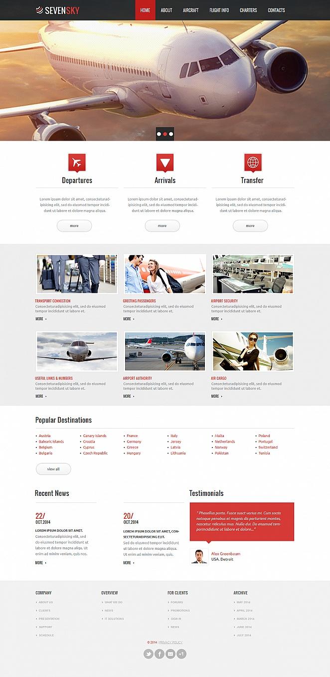 MotoCMS HTML Шаблон #47809 из категории Транспорт - image