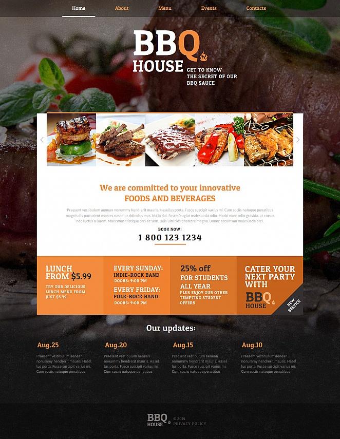 Barbecue Restaurant Website Template - image