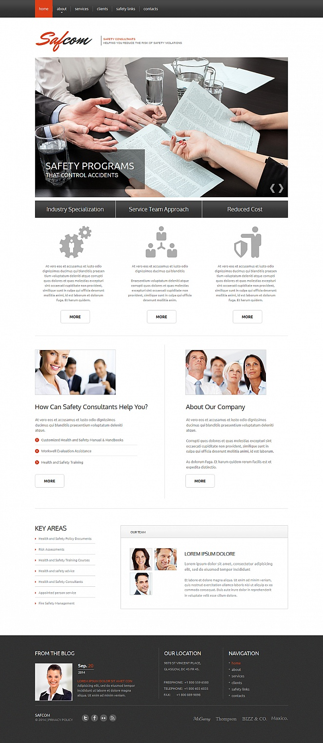 Safety Consulting Services Web Template with a jQuery Slider - image