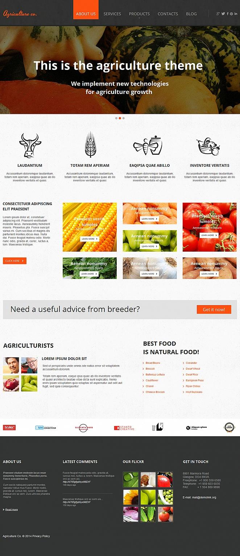 Szablon strony o rolnictwie z dużą sekcją treściową w stopce - image