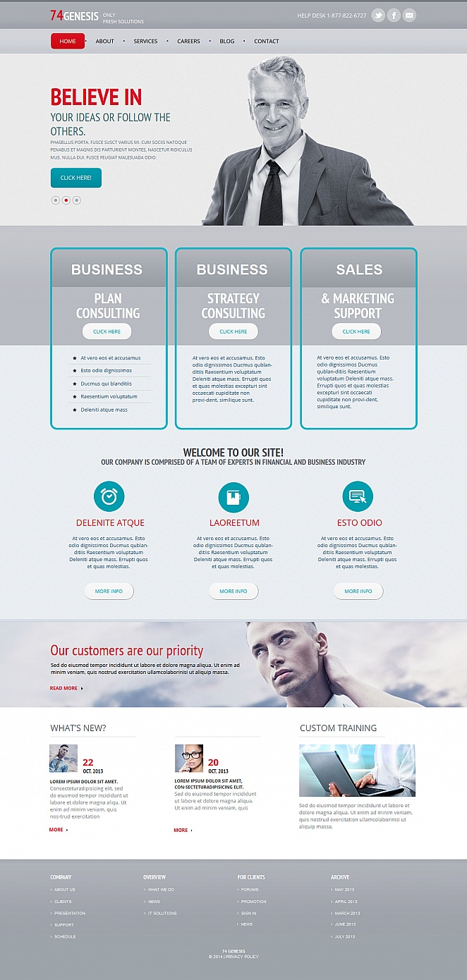 Business Website Template with Many Pictures on the Layout - image