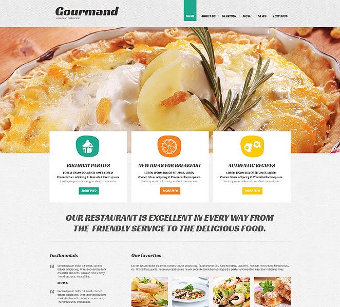 Cafe and Restaurant Responsive Joomla Template New Screenshots BIG