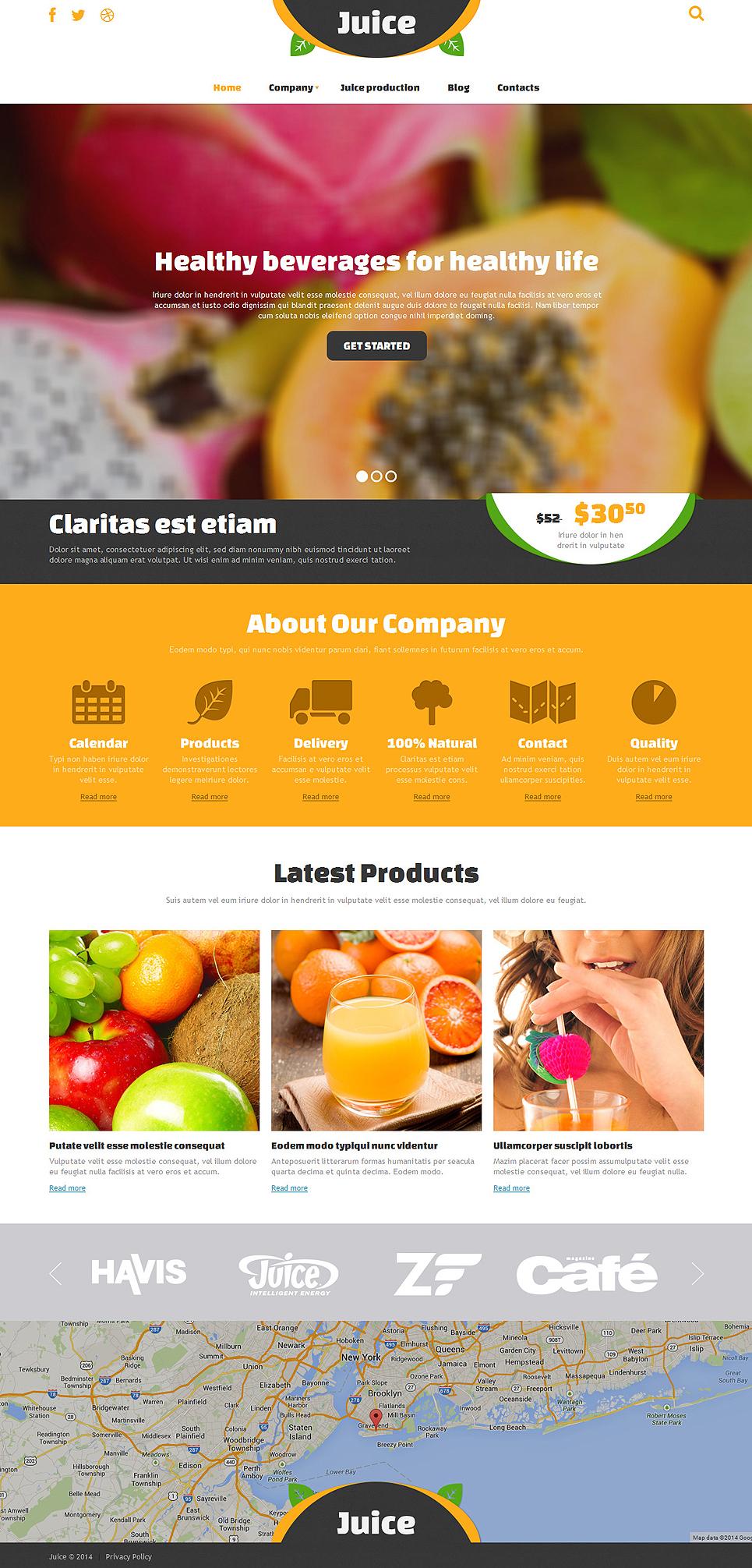 Ultimate Food & Drink Responsive Joomla Template