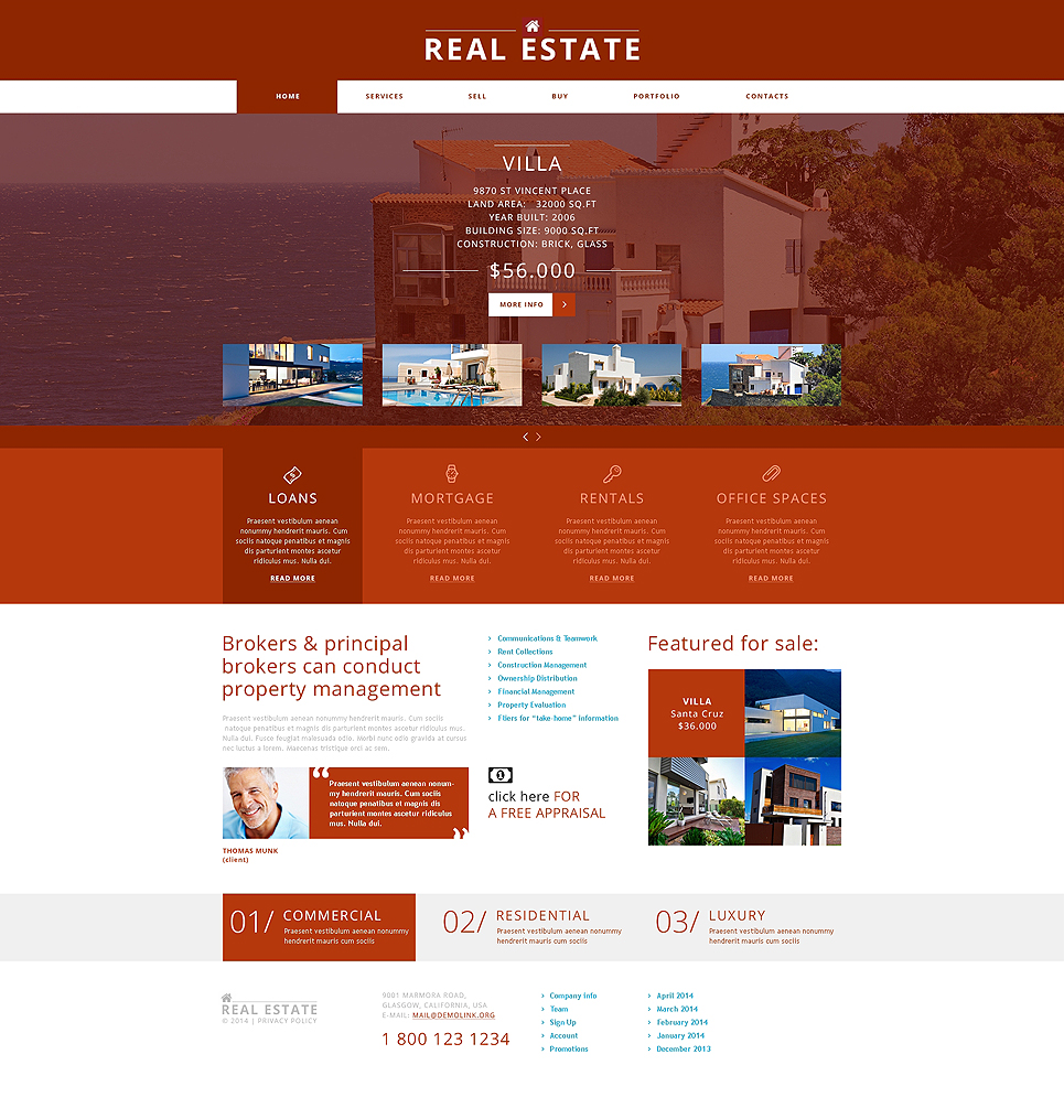 Vibrant Real Estate Agency Joomla Template