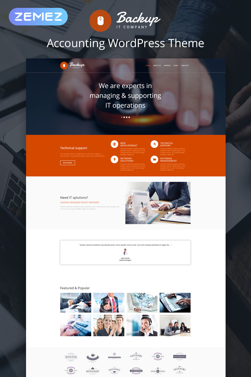 IT Responsive WordPress Theme New Screenshots BIG