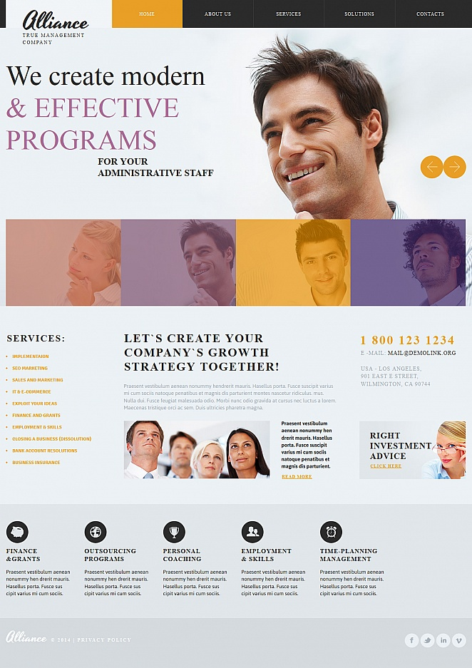 Management Website Template with a Creative Image Slider - image