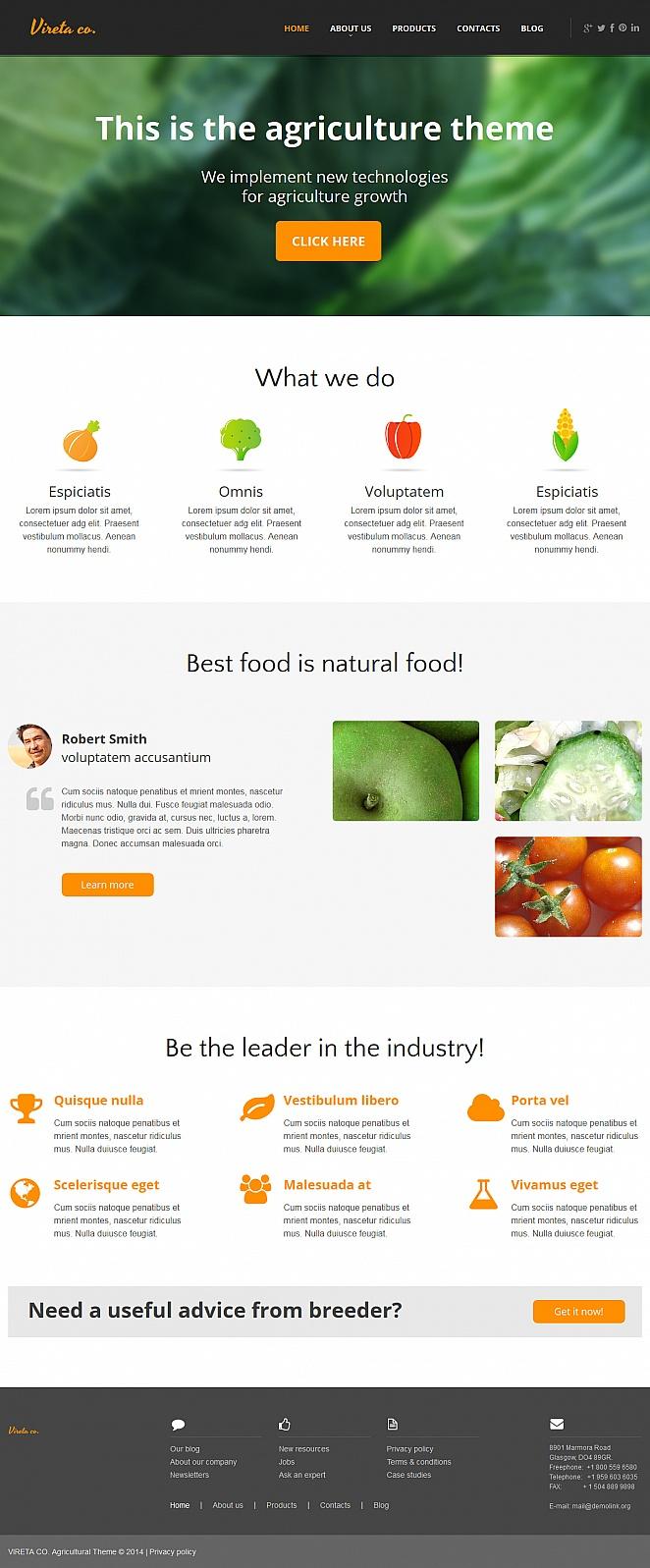 MotoCMS HTML Шаблон #47959 из категории Сельское хозяйство - image