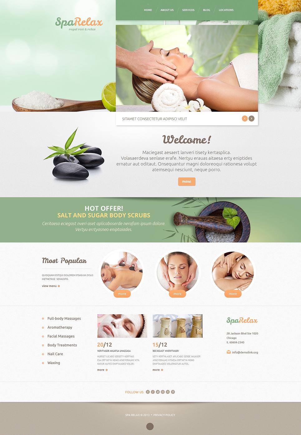 Spa salon WordPress Theme #47994