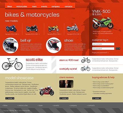 bike shop website template 4879. Black Bedroom Furniture Sets. Home Design Ideas