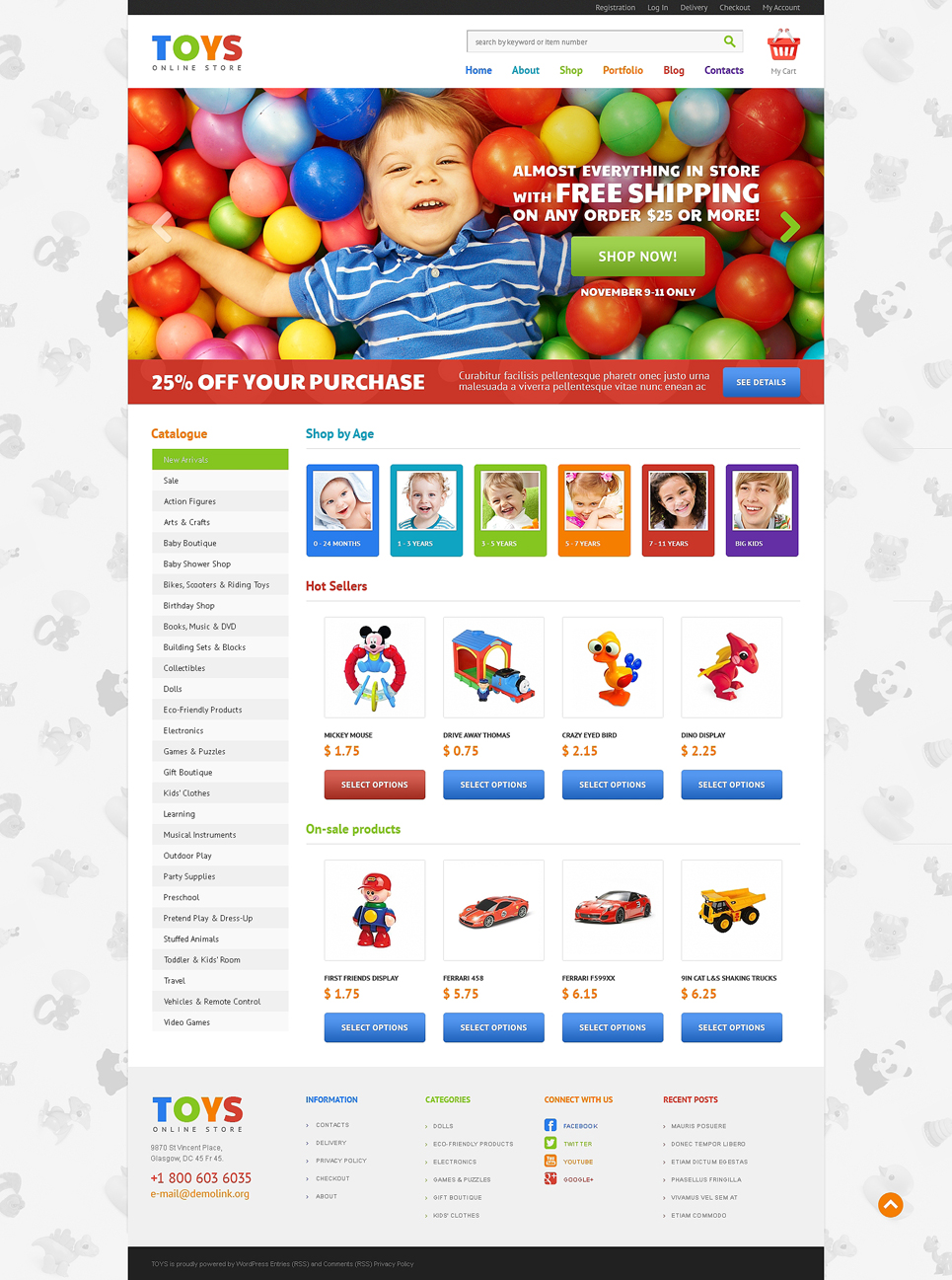 Excellent Toys Store JigoShop Theme